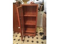 Wooden Glass fronted cupboard