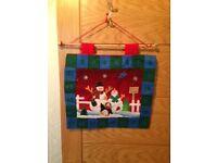 Felt pocket hanging Advent Calendar