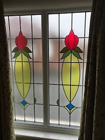 Used UPVC Window with Leaded Glass