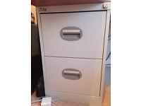 Grey 2-Drawer Filing Cabinet