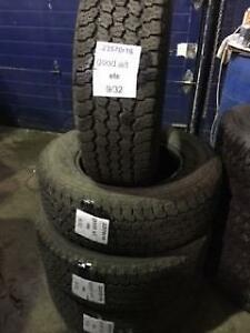 4 PNEUS D ETE USAGES 2357016 GOODYEAR WRANGLER ALL TERRAIN ADVENTURE 235/70R16 106T 23570R16 $125 CH