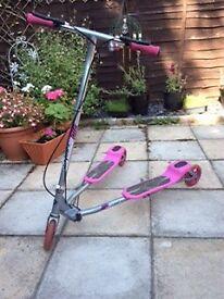 Zip Scooter. Girls/adult pink scissor scooter.