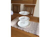 3 Tiered cake plate stand - great for tea parties, weddings; 20 available