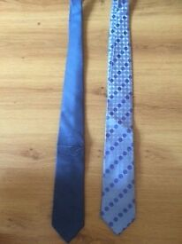 x2 Silk Ties Next to New £3 for both