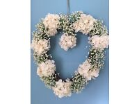 Pretty floral wreath used for daughter's wedding