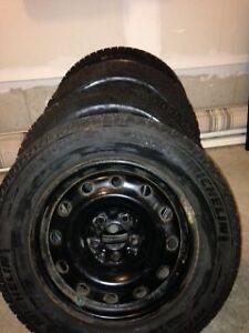 Michelin X Ice II winter tires on Steel Rims Kitchener / Waterloo Kitchener Area image 1