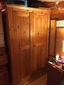 Large Solid Pine Wardrobe