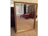 Rectangular Large OSBURNE Gilt Mirror