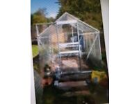 Metal framed greenhouse, secondhand, approx. 8' x 6'