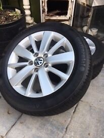 "Genuine 16"" Volkswagen Alloy Wheels, fits Golf Match 2011"