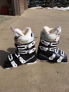 Head Dream 80 Black 24.5 (Size 7 1/2) Boots