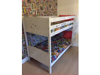 Bunk Beds suitable from toddlers to teenagers, good quality, can be split into 2 separate beds