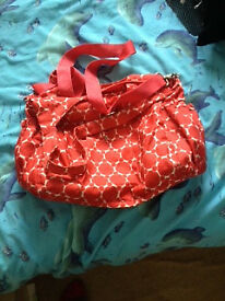 red changing bag