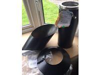 Stovax satin black professional twin wall XQ parts
