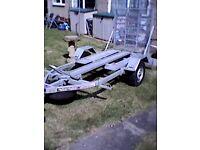 Phoenix 2 x Motorbike Trailer galvanised Steel