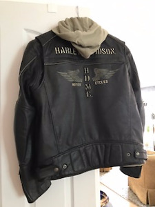 Men's Harley Davidson Leather Jacket, Boots & Helmet