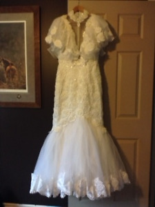 Gorgeous Mermaid Style Bridal Vintage Gown for Sale