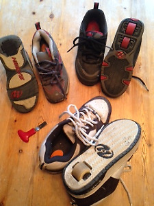 3 Pairs of Heeley Roller shoes - child sizes, all for $30