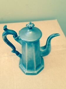 Antique English Tin Coffee Pot