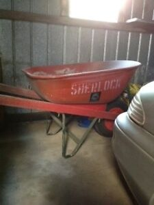 "Red ""Sherlock"" brand metal wheelbarrow Bendigo Bendigo City Preview"