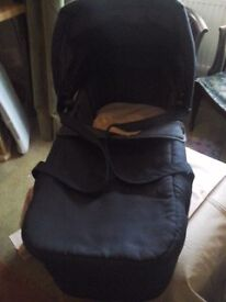 Navy blue carrycot