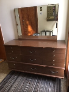 PRICED to SELL : WOODEN DRESSER with MIRROR