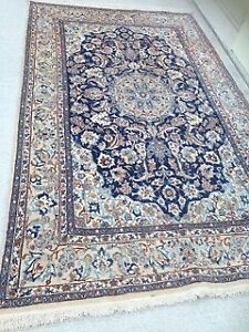 Persian Rug/Nain, antique, pure wool/hand woven, excel cond.