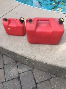 Barly Used Gas Cans  4-Gallon and 1-Gallon