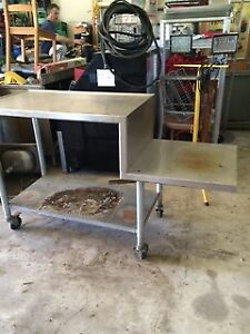 Stainless Table on wheels