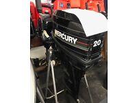 Mercury 20hp 2 stroke Long Shaft on tiller