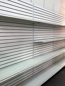 CASH COUNTERS, GLASS DISPLAY UNITS, GRIDWALL, GONDOLA SHELVING
