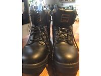 As new, size 9 steel toe boots
