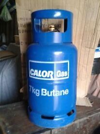 Calor Gas bottle FULL, 7kg, Butane, blue botle