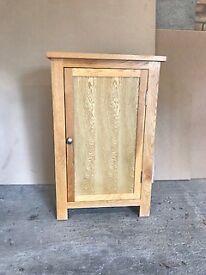 Modern Solid Oak shelved cupboard