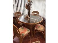 Conservatory Table and Chair set - As new!