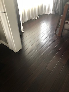 Handscraped Antique Espresso Bamboo Hardwood