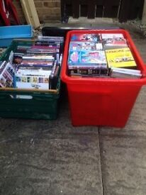 2 Large Boxes Of DVDs, 150 plus Car Boot Sale Items