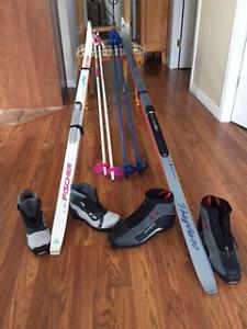Ensemble de ski de fond+ bottes