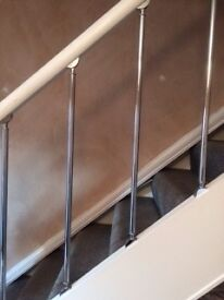 Silver stair rods
