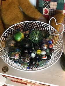 MARBLES - Gorgeous unique collection with Basket