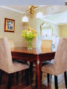 dining room table and chairs $500.00 dining room set$500.00