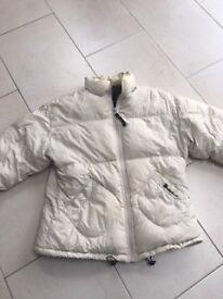 cream long sleeved puffa jacket Billabong