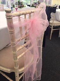 Pink Wedding Chair sash