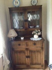 Light Oak Glazed Welsh Dresser, as new