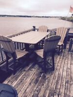 Outdoor Deck Table and 4 Chairs Price Reduced
