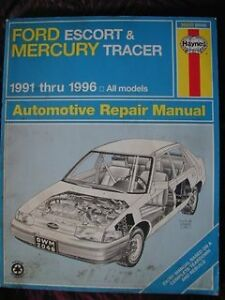 haynes ford escort mercury tracer 1991 to 1996