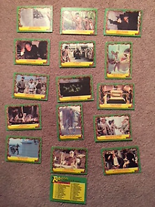 Vintage lot of 12 Raiders of the Lost Ark 1981 Collector Cards