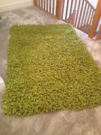 GREEN LUXURY RIBBON RUG
