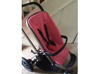 Quinny Buzz Pushchair, Car seat with adapters and foldable carrycot