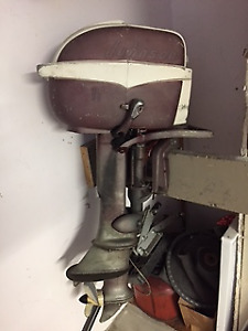 1957 Johnson 7 1/2 hp outboard